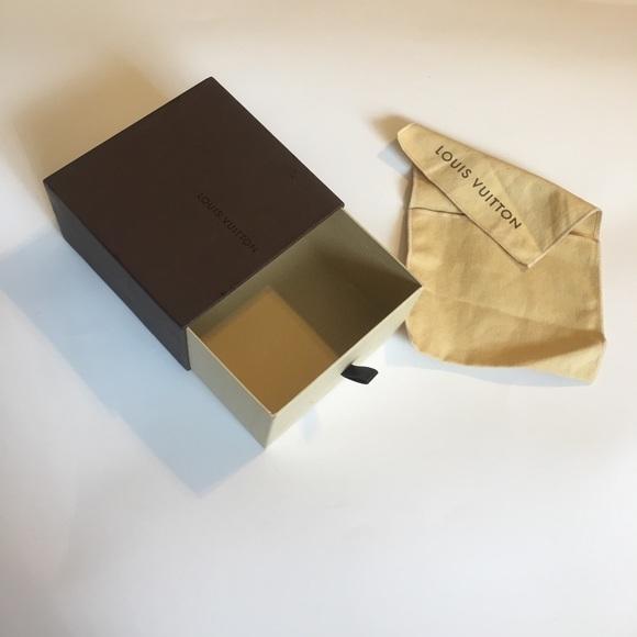 """Louis Vuitton Accessories - Louis Vuitton Empty Box & Dust Bag 5 3/8""""x5 1/2x 3"""